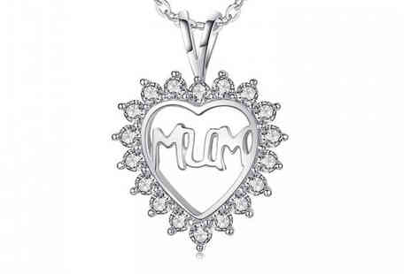Your Ideal Gift - Mum Heart Pendant With Crystals From Swarovski - Save 85%