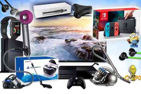 HCI Distribution - A Mystery Electronics Deal get a Dyson Supersonic hairdryer, LG 49 Inch UHD 4K TV, Nintendo Switch, Apple Watch and more - Save 0%