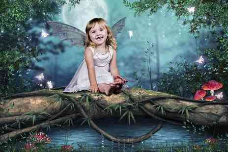 F4 Photography - One Hour long kids superhero, princess or fairy themed photoshoot with a 12 Inch x 8 Inch print  - Save 90%