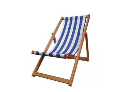 Who Needs Shops - Traditional vintage style folding deck chair - Save 76%