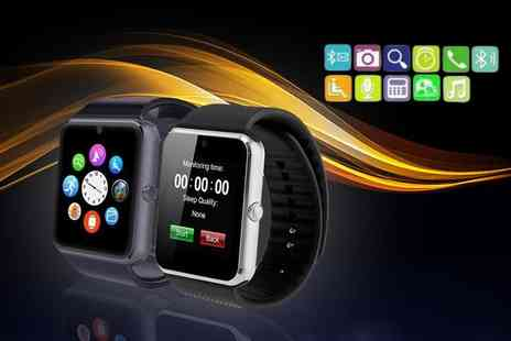 Mobi Trends - 15 in 1 iTouch Bluetooth smartwatch for iOS and Android choose black or silver - Save 79%