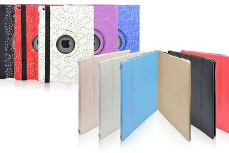 Groupon Goods Global GmbH - Diamante Rotating or Metallic Panel iPad Case - Save 83%