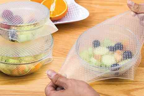 Groupon Goods Global GmbH - Reusable and Adjustable Silicone Food Covers - Save 80%