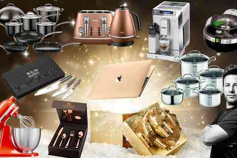 Groupon Goods Global GmbH - Mystery Kitchen Gift with a Chance to Win a Gold Macbook, KitchenAid Mixer, Delonghi Toaster Set & More - Save 0%