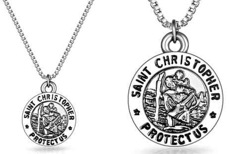 Groupon Goods Global GmbH - Saint Christopher Necklace - Save 70%