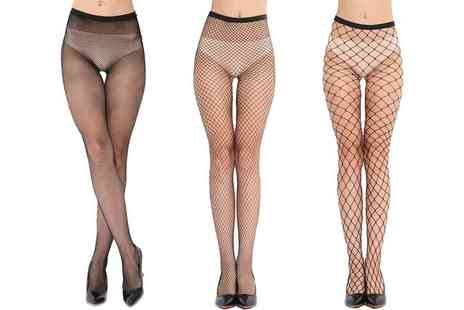 Groupon Goods Global GmbH - Black Fishnet Tights - Save 0%