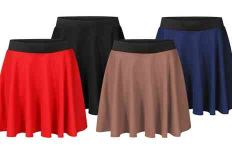 Groupon Goods Global GmbH - Ponte Mini Skirt with Black Elasticated Waistband - Save 0%