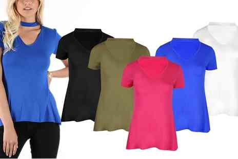 Groupon Goods Global GmbH - Choker Neck Swing Tops - Save 0%