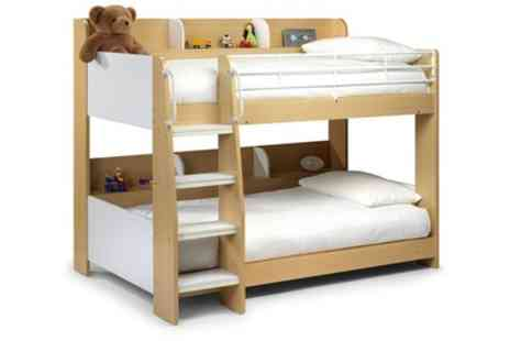 Groupon Goods Global GmbH - Domino Maple Bunk Bed with Two Spring Mattresses Include Free Delivery - Save 47%