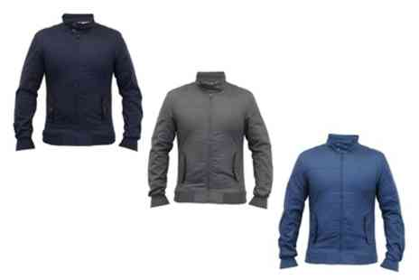 Groupon Goods Global GmbH - Crosshatch Mens Harrington Jacket with Funnel Neck - Save 0%