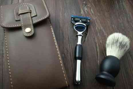Groupon Goods Global GmbH - Woodland Leather Shaving Kit - Save 69%