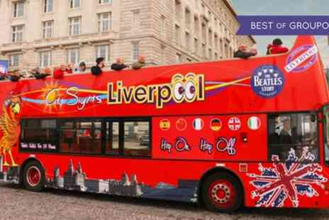 Liverpool City Sights - Hop On Hop Off Guided Beatles Tour for Two Adults or a Family of Five - Save 53%