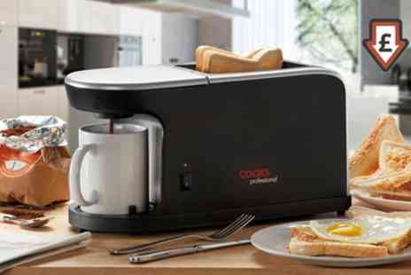 Groupon Goods Global GmbH - Cooks Professional Coffee Machine and Toaster - Save 67%