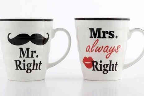 london exchainstore - Mr. Right & Mrs. Always Right Mug Set - Save 60%