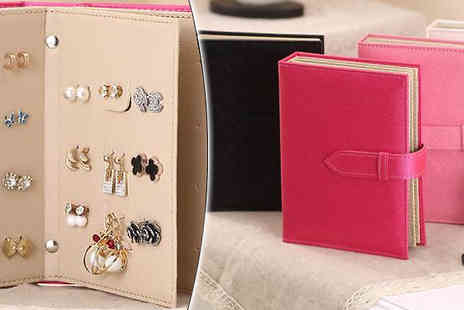 Graboom - Earring Storage Book Holds Up To 42 Pairs - Save 0%