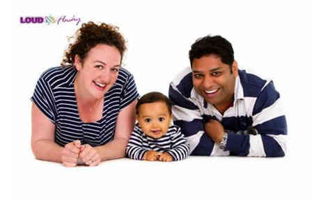 Loud and Flashy - Group or family photoshoot for up to 10 people include eight prints of one image - Save 96%