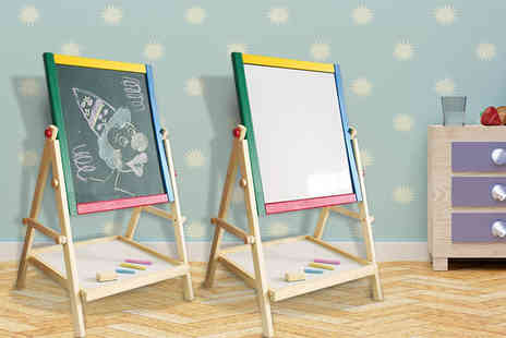 DIRECT2PUBLIK - Kids Two In One wooden blackboard - Save 60%