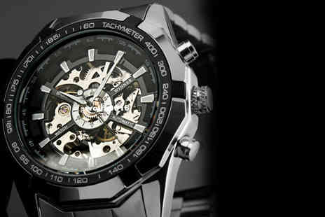 Trending Picks - Mens mechanical military skeleton watch - Save 73%