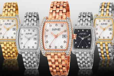 Groupon Goods Global GmbH - August Steiner Womens Bracelet Watch with Crystals from Swarovski With Free Delivery - Save 52%