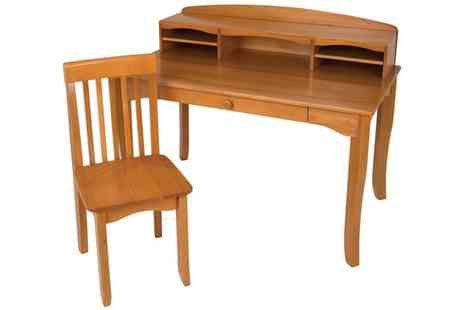 Groupon Goods Global GmbH - Kids Solid Wood Desk with Hutch and Chair With Free Delivery - Save 38%