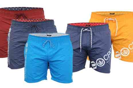 Groupon Goods Global GmbH - Crosshatch Mens Surf Board Swimming Shorts - Save 0%