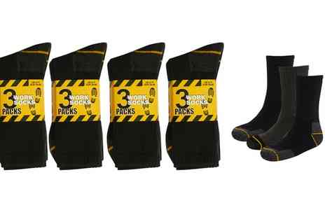 Groupon Goods Global GmbH - 12 Pairs of Mens Work Socks - Save 0%
