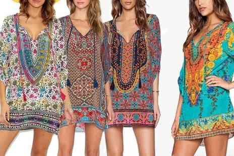 Groupon Goods Global GmbH - Bohemian Kaftan Dress in Choice of Design and Size - Save 0%