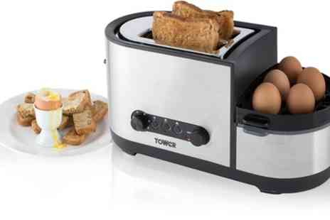 Groupon Goods Global GmbH - Tower T20012 Toaster with Egg and Breakfast Cooker - Save 56%