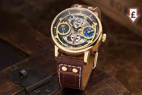 Groupon Goods Global GmbH - Theorema Mechanical Mens Hamburg Watch with 17 stones With Free Delivery - Save 82%