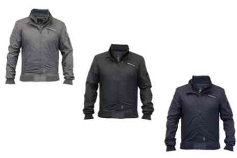 Groupon Goods Global GmbH - Crosshatch Mens Winsford Funnel Neck Windbreaker Jacket - Save 0%