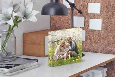 Photo Gifts - Personalised Acrylic Block in Choice of Size - Save 85%