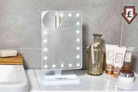 Groupon Goods Global GmbH - GloBrite Touch Screen LED Make Up Mirror - Save 70%