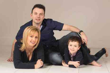 The Fresh Group - Family photoshoot, three prints and £100 worth of vouchers - Save 96%