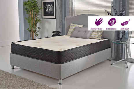 My Mattress Online - Single SleepWell Orthopaedic Memory Foam Sprung Mattress - Save 82%