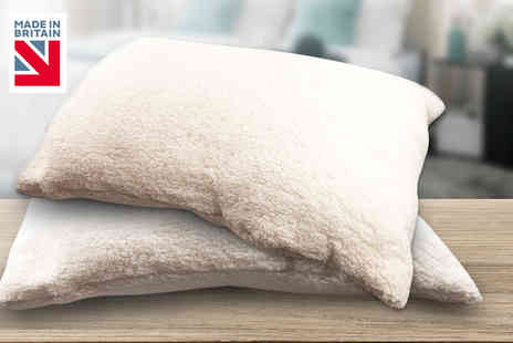 Rashids - Fluffy teddy soft pillow - Save 68%