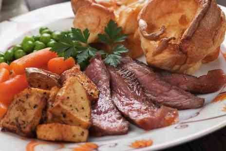 The Royal Standard - Sunday roast for two people including a bottle of wine to share - Save 54%
