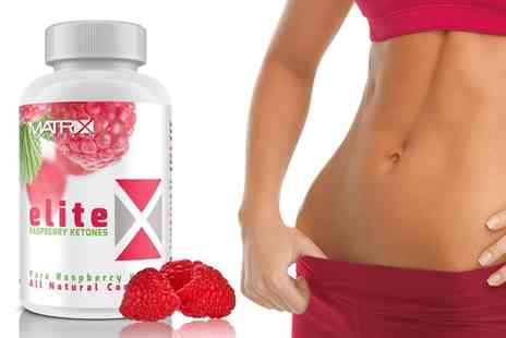 Groupon Goods Global GmbH - Matrix Raspberry Ketones Supplements One, Three or Six Month Supply - Save 80%