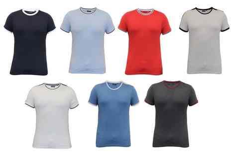 Groupon Goods Global GmbH - Brave Soul Mens Retro Football Style Crew TShirt - Save 0%
