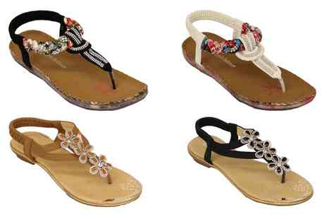 Groupon Goods Global GmbH - Womens Floral Sandals - Save 0%