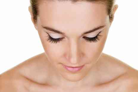 Platinum Hair - Eyelash Extensions with Optional Brow Wax or Russian Volume Lashes - Save 58%