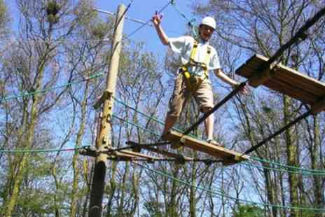 Kirkley Hall Outdoor Activity Centre - High Ropes Experience for Up to Four - Save 40%