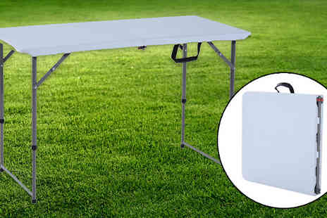 MHSTAR - 1.2m Folding Camping Table With Adjustable Legs - Save 0%