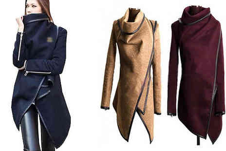 Shapelle - Asymmetrical Winter Jacket Three Colours - Save 72%