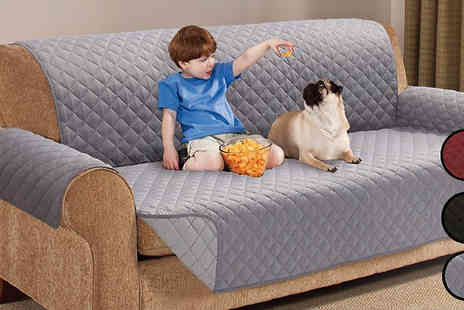 Gorgeous Selection - Reversible Waterproof Sofa Protector Two Sizes Four Colours - Save 68%