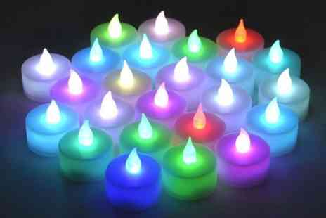 Ckent - 12 LED colour changing tea lights - Save 64%