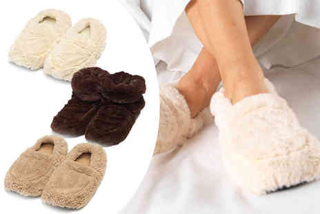 Dream Price Direct - Pair of Warmies slippers choose from a range of colours - Save 38%