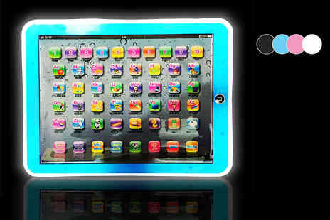 A2B Shopping - An LED childrens tablet choose from four colours - Save 65%