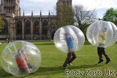 Body Zorb Midlands - Body Zorbing Experience for Four £18- Save 82%