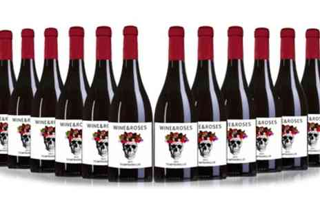 San Jamon - Twelve Bottles of Wine and Roses Tempranillo Wine - Save 46%