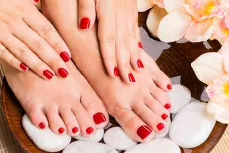 East End Belles - Shellac Manicure, Pedicure or Both - Save 50%